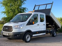 USED 2016 16 FORD TRANSIT 2.2 350 L3 DCB C/C DRW 1d 124 BHP One Owner, Alloy Sided Tipper, 7 Seats, Tow Bar.