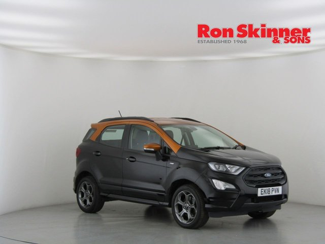 View our 2018 18 FORD ECOSPORT 1.5 ST-LINE TDCI 5d 99 BHP with Orange Roof