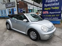 2005 VOLKSWAGEN BEETLE CONVERTIBLE 1.4, only 86000 miles £2495.00