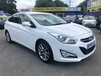 2014 HYUNDAI I40 1.7 CRDI STYLE 4d AUTO 134 BHP IN METALLIC WHITE WITH A FULL SERVICE HISTORY AND 62,500 MILES! £7299.00