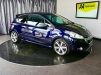 USED 2013 63 PEUGEOT 208 1.6 THP XY 3d 156 BHP £0 DEPOSIT FINANCE AVAILABLE, AIR CONDITIONING, AUX INPUT, BLUETOOTH CONNECTIVITY, CLIMATE CONTROL, CRUISE CONTROL, DAB RADIO, DAYTIME RUNNING LIGHTS, HEATED SEATS, PARKING SENSORS, PANORAMIC ROOF, PEUGEOT CONNECT WITH USB, SATELLITE NAVIGATION, STEERING WHEEL CONTROLS, TOUCH SCREEN HEAD UNIT, TRIP COMPUTER