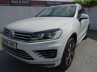 USED 2016 66 VOLKSWAGEN TOUAREG 3.0 V6 R-LINE TDI BLUEMOTION TECHNOLOGY 5d AUTO 259 BHP VW TOUREG R-LINE AUTO PAN ROOF FULLY LOADED