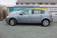 USED 2007 07 VAUXHALL ASTRA 1.8 DESIGN 16V E4 5d 140 BHP PETROL SILVER GENUINE LOW MILEAGE + SERVICE HISTORY