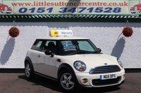 2011 MINI HATCH ONE 1.6 ONE 3d 98 BHP £4500.00