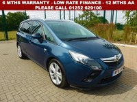 USED 2016 16 VAUXHALL ZAFIRA TOURER 2.0 SRI CDTI 5d AUTO 168 BHP All retail cars sold are fully prepared and include - Oil & filter service, 6 months warranty, minimum 6 months Mot, 12 months AA breakdown cover, HPI vehicle check assuring you that your new vehicle will have no registered accident claims reported, or any outstanding finance, Government VOSA Mot mileage check. Because we are an AA approved dealer, all our vehicles come with free AA breakdown cover and a free AA history check.. Low rate finance available. Up to 3 years warranty available.