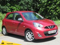 USED 2015 NISSAN MICRA 1.2 ACENTA 5d 79 BHP SATELLITE NAVIGATION, BLUETOOTH CONNECTION