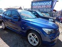 USED 2012 12 BMW X1 2.0 XDRIVE20D M SPORT 5d AUTO 174 BHP BLACK LEATHER SPORTS INTERIOR, SAT NAV, 4WD, FULL SERVICE HISTORY