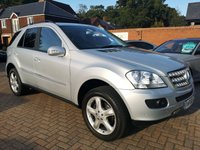 USED 2006 56 MERCEDES-BENZ M CLASS 3.0 ML280 CDI SPORT 5d AUTO 188 BHP FSH+HALF LEATHER+CRUISE+BT