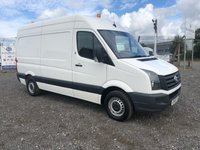 2015 VOLKSWAGEN CRAFTER CR35 2.0 TDI 109 MWB HIGH ROOF PANEL VAN £8695.00