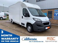 USED 2016 65 PEUGEOT BOXER 2.2 HDI 335 L3 LOW FLOOR LUTON 1d 130 BHP LOW FLOOR LUTON, 1 KEEPER, 12 MONTHS RAC COVER