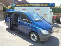 USED 2013 13 MERCEDES-BENZ VITO 2.1 113 CDI DUALINER  136 BHP  SIX  SEAT CREW VAN FITTED WITH STEEL DOG CAGES WITH AIR CON FLOW TO REAR   FULL YEARS MOT FULL PRINT OUT SERVICE HISTORY   SIX SEAT CREW VAN WITH REAR DOUBLE DOG CAGE