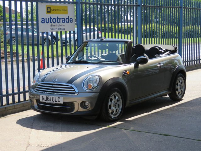 USED 2011 61 MINI CONVERTIBLE 1.6 COOPER D 2dr Convertible Electric hood Just £20 Road Tax,Convertible,Alloys,Air Conditioning,CD player,Service History