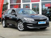 USED 2018 67 KIA OPTIMA 1.7 CRDI 2 ISG 5d 139 BHP STUNNING, Balance of 7 Years Kia Warranty, KIA OPTIMA 1.7 CRDI 2 ISG ESTATE 139 BHP. Finished in Metallic MIDNIGHT BLACK with contrasting GREY trim. This mid -size estate is stylish, good looking and offers great value for money. Features include Sat Nav, DAB, Rear View Camera, Cruise, Power folding Door mirrors, LED day run lights, B/Tooth and much more.