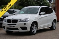USED 2013 63 BMW X3 2.0 XDRIVE20D M SPORT 5d AUTO 181 BHP SATELLITE NAVIGATION + FULL LEATHER INTERIOR