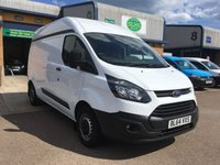 USED 2015 64 FORD TRANSIT CUSTOM 2.2 290 L2 H2 1d 99 BHP HIGH TOP, LWB, BLUETOOTH, E/W, 6 MONTHS WARRANTY & FINANCE ARRANGED. A long wheel base high top van, Front fog lights, Front & rear Parking Sensors, Bluetooth, E/W, 3 services - last service on 5/7/2018 @ 84,876, DAB Radio, Drivers airbag, Factory fitted bulk head, side loading door, ply lined, Very Good Condition, 1 Owner, remote Central Locking, Drivers Airbag, Steering Column Radio Control, Barn Rear Doors, finance arranged on site & 6 months premium Autoguard warranty