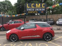 USED 2015 15 CITROEN DS3 1.6 E-HDI DSTYLE PLUS 3d 90 BHP RUGBY RED METALLIC PAINT WORK, METALLIC GREY ROOF AND MIRROR CAPS, 17 INCH BELLONE ALLOY WHEELS, REAR PDC, CRUISE CONTROL, PIONEER STEREO, A/C, LOW MILEAGE, LOW ROAD TAX, ECONOMICAL
