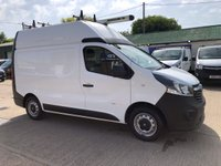 USED 2016 65 VAUXHALL VIVARO 1.6 2900 L1H2 CDTI HIGH ROOF 120 BHP BI TURBO