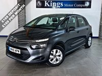 USED 2016 16 CITROEN C4 PICASSO 1.6 BLUEHDI VTR 5dr  £0 Tax, 74.3 MPG, 1 Owner FSH , Drive Away SAME DAY!! STUNNING