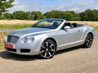 2007 BENTLEY CONTINENTAL 6.0 GTC AUTO 550 BHP 2DR CONVERTIBLE £28495.00