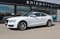 USED 2010 60 AUDI A5 2.0 TDI 2d 168 BHP Audi A5 2.0 TDi in White, Full Service History, Remote Central Locking, Parking Sensors, Upgraded Front Grill, Electric Mirrors and Windows, Full Black Leather Interior, Book Pack and 2 Keys.