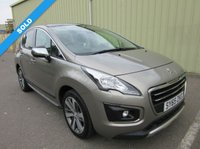 USED 2015 65 PEUGEOT 3008 1.6 BLUE HDI S/S ALLURE 5d AUTO 120 BHP HIGH SPEC AUTOMATIC