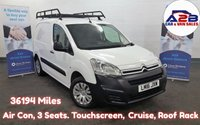 2016 CITROEN BERLINGO 1.6 HDi ENTERPRISE with Low Mileage 36,194 Miles, Air Con, Bluetooth, Cruise, Rear Parking Sensors, 3 Seats, Touchscreen. and more...   £6980.00