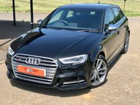 USED 2017 67 AUDI A3 2.0 S3 SPORTBACK QUATTRO AUTO 306 BHP 5DR HATCH BACK SATNAV+1 OWNER+ LEATHER+