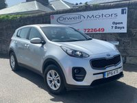 USED 2016 16 KIA SPORTAGE 1.7 CRDI 1 ISG 5d 114 BHP FINANCE AVAILABLE+BLUETOOTH+GREAT FUEL ECONOMY+BALANCE OF MANUFACTURERS 7 WARRANTY