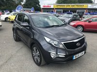 USED 2015 15 KIA SPORTAGE 1.7 CRDI 3 SAT NAV ISG 5d 114 BHP MANUAL IN METALLIC SILVER WITH 1 OWNER, 38000 MILES AND A FULL SERVICE HISTORY  APPROVED CARS ARE PLEASED TO OFFER THIS KIA SPORTAGE 1.7 CRDI 3 SAT NAV ISG CR MANUAL WITH 1 OWNER,38000 MILES AND A FULL SERVICE HISTORY SERVICED AT 14K AND 24K. IN IMMACULATE CONDITION WITH A FULL LEATHER INTERIOR,ELECTRIC PANORAMIC SUNROOF,ALLOYS ,BLUETOOTH, ELECTRIC WINDOWS AND MUCH MORE A GREAT KIA SPORTAGE
