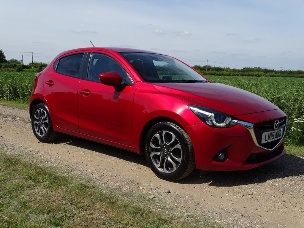 USED 2015 15 MAZDA 2 1.5 SPORT NAV 5d 113 BHP Soul Red Crystal Metallic