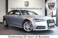 """USED 2015 15 AUDI A6 3.0 TDI QUATTRO S LINE 4DR AUTO 268 BHP full service history * NO ADMIN FEES *  FINISHED IN STUNNING SILVER WITH FULL GREY LEATHER INTERIOR + FULL SERVICE HISTORY + SATELLITE NAVIGATION + BLUETOOTH + HEATED FRONT/REAR SEATS + DAB RADIO + CRUISE CONTROL + CLIMATE CONTROL + HEATED MIRRORS + PARKING SENSORS + REVERSE CAMERA + 18"""" ALLOY WHEELS"""