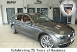 """USED 2016 16 BMW 3 SERIES 3.0 330D XDRIVE LUXURY TOURING 5d AUTO 255 BHP FINISHED IN STUNNING MINERAL GREY METALLIC WITH A CONTRASTING LIMITED EDITION TAN LEATHER SEATS + FULL BMW SERVICE HISTORY + SATELLITE NAVIGATION + DAB DIGITAL RADIO + BLUETOOTH + PARKING SENSORS + CRUISE CONTROL + CLIMATE CONTROL + AIR CONDITIONING + 18"""" ALLOY WHEELS"""