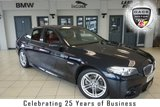 """USED 2016 66 BMW 5 SERIES 2.0 520D M SPORT 4d AUTO 188 BHP FINISHED IN STUNNING CARBON BLACK METALLIC WITH CONTRASTING DARK BROWN LEATHER SEATS + FULL BMW SERVICE HISTORY + SATELLITE NAVIGATION + DAB RADIO + BLUETOOTH + CRUISE CONTROL + CLIMATE CONTROL + AIR CONDITIONING + PARKING SENSORS + 18"""" ALLOY WHEELS"""