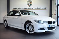 "USED 2017 17 BMW 3 SERIES 2.0 330E M SPORT 4DR AUTO 181 BHP full service history * NO ADMIN FEES * FINISHED IN STUNNING ALPINE WHITE WITH FULL LEATHER INTERIOR + FULL SERVICE HISTORY + SATELLITE NAVIGATION + BLUETOOTH + DAB RADIO + LED HEADLIGHTS + LIGHT PACKAGE + RAIN SENSORS + PARKING SENSORS + 18"" ALLOY WHEELS"