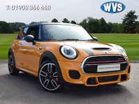 USED 2018 68 MINI JOHN COOPER WORKS 2.0 John Cooper Works Hatch 228 3dr A gorgeous 2600 mile November 2018 Mini 2.0 John Cooper Works in orange with a carbon black roof and mirrors. £4715 OF FACTORY EXTRAS INCLUDES CHILLI PACK, HARMAN KARDON HI-FI, HEAD UP DISPLAY, REAR VIEW CAMERA, RUN FLAT TYRES, CHROME LINE INTERIOR, HEATED FRONT SCREEN, BONNET STRIPES, PLUS CARBON EFFECT ROOF AND DOOR MIRRORS.