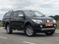 USED 2015 65 MITSUBISHI L200 2.4 DI-D 4X4 WARRIOR DCB 1d AUTO 178 BHP FULL BLACK LEATHER INTERIOR + FSH + NAV + B/T + HEATED FRONT SEATS + FINANCE AVAILABLE SUBJECT TO STATUS + P/X WELCOME + 6 MONTH WARRANTY GIVEN
