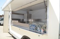 USED 2011 11 VAUXHALL MOVANO 2.3 CDTi F3500 L3 Catering Van Brand New Conversion Unused - NO VAT 13.6 x 7ft - NO VAT, with 121000 miles, in White, unused comes equipped with following options including; 4ft S.M.S griddle, glass sneeze guard over griddle, perspex display for dry goods, 4 pot slim line bain-marie, 2 x under counter fridges, upright glass door drinks fridge, Heavy duty commercial grade none slip vinyl flooring, stainless steel covered worktops, under shelving to work tops, separated water cupboard with sliding stainless steel covered doors, over hatch shelf