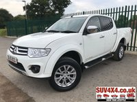 USED 2015 15 MITSUBISHI L200 2.5 DI-D 4X4 CHALLENGER LB DCB 1d 175 BHP ONE OWNER (£7400 + £1480 VAT) 4WD. SLIDING LOAD COVER. STUNNING WHITE MET WITH BLACK CLOTH TRIM. CRUISE CONTROL. CLIMATE CONTROL WITH AIR CON. SIDE STEPS. 17 INCH ALLOYS. COLOUR CODED TRIMS. PRIVACY GLASS. ROOF RACK/RAILS. BLUETOOTH PREP. PAS. R/CD PLAYER. MFSW. MOT 07/20. ONE PREV OWNER. SERVICE HISTORY. PICK-UP & VAN CENTRE LS24 8EJ TEL 01937 849492 OPTION 3.