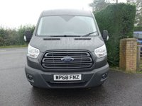 USED 2018 68 FORD TRANSIT 350 TREND FWD L3 H2 LWB MED HI-TOP 2.0 TDCI 130 BHP EURO 6 Higher Specification Trend Model With Additional Air Con & Balance Of Fords Warranty Till November 2021! **Moondust Silver & Magnetic Grey Available**