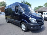 USED 2018 18 MERCEDES-BENZ SPRINTER 314 MWB HIGHTOP 2.1 CDI 140 BHP Stunning Looking MWB Sprinter In Eye Catching Blue With High Specification Including Air Con & Reversing Camera & No VAT To Pay!