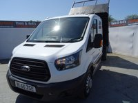 USED 2016 66 FORD TRANSIT 2.0 350 L3 H2 P/V DRW 1d 129 BHP FORD TRANSIT DOUBLE CAB TIPPER EURO 6 ULEZ COMPLIANT