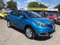 USED 2014 64 RENAULT CAPTUR 1.5 EXPRESSION PLUS ENERGY DCI S/S 5d 90 BHP IN IMMACULATE CONDITION WITH ONLY 22000 MILES. APPROVED CARS AND FINANCE ARE PLEASED TO OFFER THIS RENAULT CAPTUR 1.5 EXPRESSION PLUS ENERGY ENERGY  DCI S/S 5 DOOR 90 BHP IN METALLIC LIGHT BLUE WITH 22,000 MILES AND A FULL SERVICE HISTORY AT 12K AND 20K. THIS VEHICLE HAS A GREAT SPEC SUCH AS ALLOY WHEELS, AIR CONDITIONING, ELECTRIC WINDOWS, ISOFIX AND MUCH MORE. THIS VEHICLE IS A PERFECT SMALL FAMILY CAR AND HAS A GREAT SPEC AND BRILLIANT SERVICE HISTORY FOR FURTHER INFORMATION PLEASE DO NOT HESITATE TO CONTACT US ON 01622 (871555)