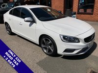 """USED 2015 15 VOLVO S60 2.0 D4 R-DESIGN LUX NAV 4DOOR 188 BHP DAB   :   Sat Nav   :   USB & AUX Sockets   :   Auto Headlights   :   Car Hotspot   /   WiFi  Cruise Control / Speed Limiter   :   Bluetooth   :   Climate Control / Air Conditioning     R-Design Steering Wheel   :   Heated Front Seats   :   Contrasting Black Leather Upholstery  Hands Free Voice Control      :      Rear Privacy Glass     :     Front & Rear Parking Sensors      18"""" Alloy Wheels   :   2 Keys   :   Comprehensive Service History"""