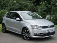 USED 2014 64 VOLKSWAGEN POLO 1.2 SE TSI 5d * 128 POINT AA INSPECTED *LOW MILEAGE CAR * 12 MONTHS FREE AA MEMBERSHIP *