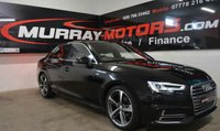 USED 2016 AUDI A4 2.0 TDI S LINE 4DOOR 148 BHP MYTHOS BLACK