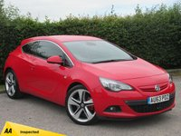 USED 2013 63 VAUXHALL ASTRA 1.6 GTC SRI 3d  * HALF LEATHER SPORTS SEATS * ALLOYS WITH RED BRAKE CALLIPERS *