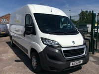 USED 2015 15 PEUGEOT BOXER LWB 2.2 HDI 335 L3H2 130 BHP 1 OWNER FSH NEW MOT FREE 6 MONTH AA WARRANTY INCLUDING RECOVERY AND ASSIST NEW MOT EURO 5 SPARE KEY ELECTRIC WINDOWS AND MIRRORS BLUETOOTH 6 SPEED