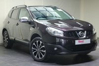 """USED 2013 13 NISSAN QASHQAI 1.6 360 5d 117 BHP 18""""ALLOYS+FSH+NAV+PARKING CAMERA+PAN ROOF+PART LEATHER+PRIV GLASS+CLIMATE CONTROL"""