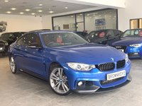 USED 2014 14 BMW 4 SERIES  435D XDRIVE M SPORT 2d AUTO 309 BHP M PERFORMANCE STYLING+RED LTHR