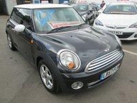 2008 MINI HATCH ONE 1.4 ONE 3d 94 BHP £2495.00